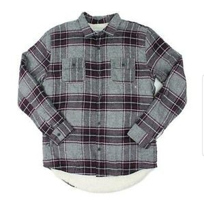 New Sherpa lined flannel plaid Pacsun mens